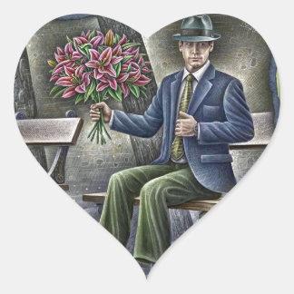 Pencil Vs Camera - Saint Valentine Gentleman Heart Sticker
