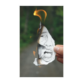 Pencil Vs Camera - Scream Canvas Print