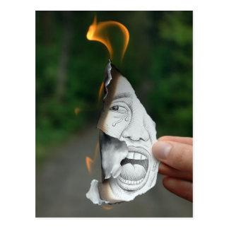Pencil Vs Camera - Scream Postcard