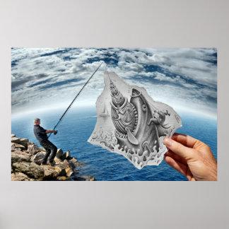 Pencil Vs Camera - Shark Poster