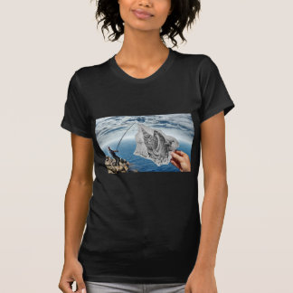 Pencil Vs Camera - Shark T-Shirt