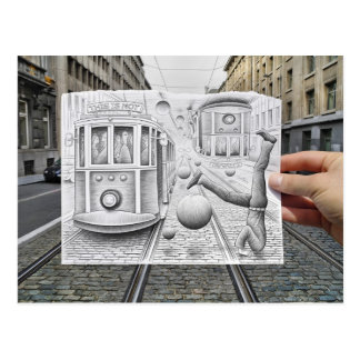 Pencil Vs Camera - This Is Not Gravity Postcard