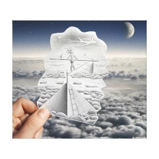 Pencil Vs Camera - Tightrope Walker Canvas Print
