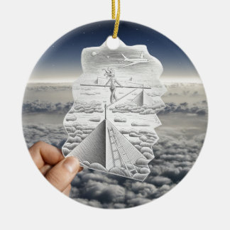 Pencil Vs Camera - Tightrope Walker Double-Sided Ceramic Round Christmas Ornament