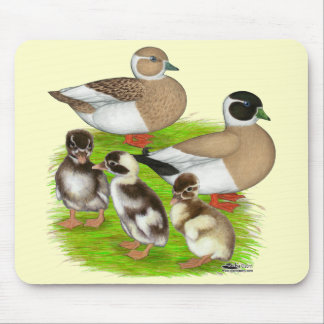 Penciled Call Duck Family Mouse Pad