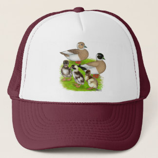 Penciled Call Duck Family Trucker Hat