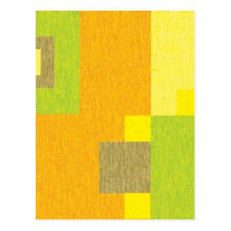 Pencilled Blocks Postcard