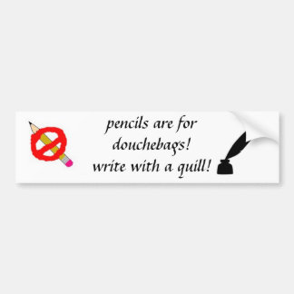 Pencils Bumper Sticker