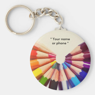 Pencils colors in range keychain
