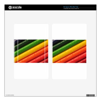 Pencils Crayons Colorful Rainbow Colours Bright Kindle Fire Skins