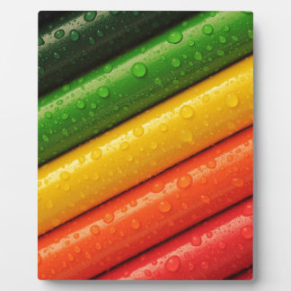 Pencils Crayons Colorful Rainbow Colours Bright Plaque