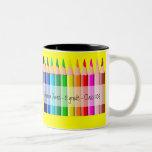 Pencils - Customized Two-Tone Mug