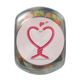 Pencils in Love Jelly Belly Candy Jar