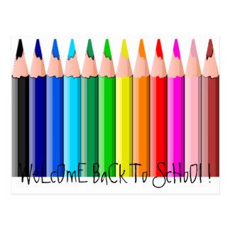 Pencils, WeLcOmE BaCk To ScHoOl ! Postcard
