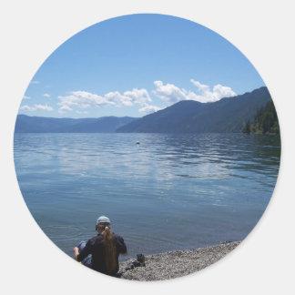 Pend Oreille Lake, North Idaho Classic Round Sticker