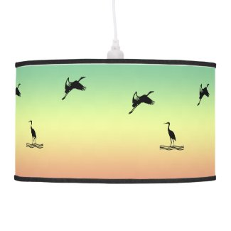 Pendant Lamp - Seabirds at Sunrise