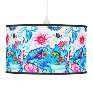 gwena2009 Pendant Lamp with many flowers