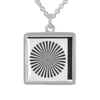 Pendant Necklace Square Sterling Hypnotic OP Illus