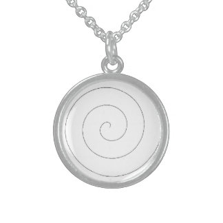 Pendant Necklace Sterling Hypnotic Spiral