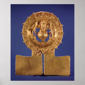 Pendant representing a sun disk, Zaachila Poster
