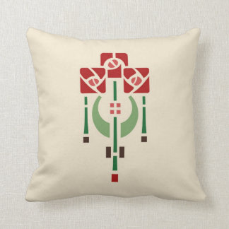 Pendant Rose Stencil Throw Pillow