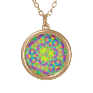 pendant with multi coloured abstract design