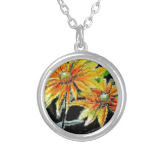 Pendant with Sunflower Art
