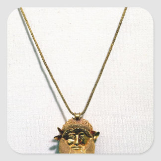 Pendant with the head of the river god Achelous Square Sticker