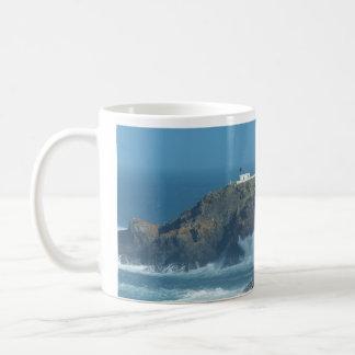 Pendeen Lighthouse Cornwall England Photo Coffee Mug
