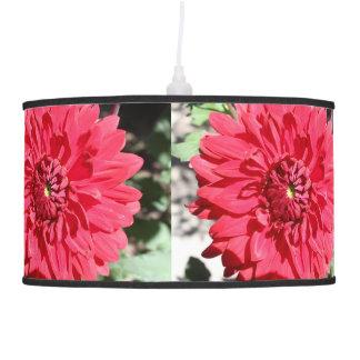 Pendent Lamp Red Dahlia