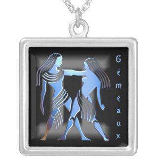 Pendentif signe du zodiac Gémeaux Personalized Necklace
