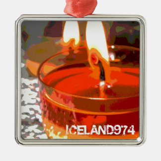 PENDENTIVE FIRE - ICELAND974 METAL ORNAMENT