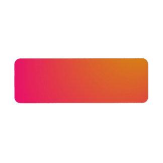 Pendiente anaranjada y rosada etiquetas de remite
