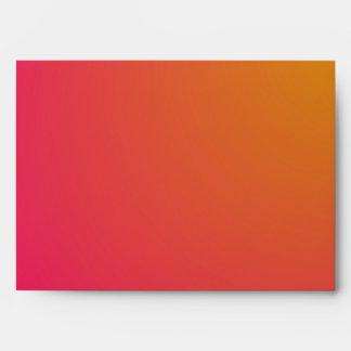 Pendiente anaranjada y rosada sobres