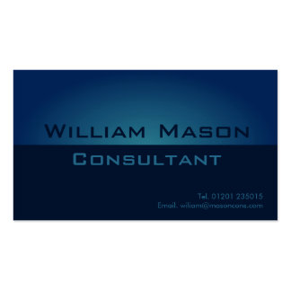 Pendiente azul de dos tonos, tarjeta de visita