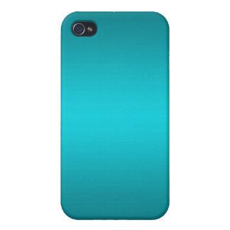 Pendiente azul de la aguamarina oscura y ligera -  iPhone 4 cobertura