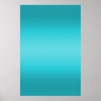 Pendiente azul de la aguamarina oscura y ligera - póster