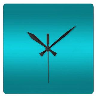 Pendiente azul de la aguamarina oscura y ligera -  reloj de pared