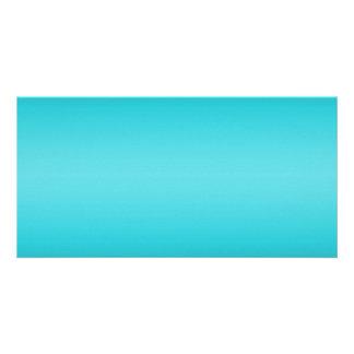 Pendiente azul de la aguamarina oscura y ligera -  tarjetas con fotos personalizadas