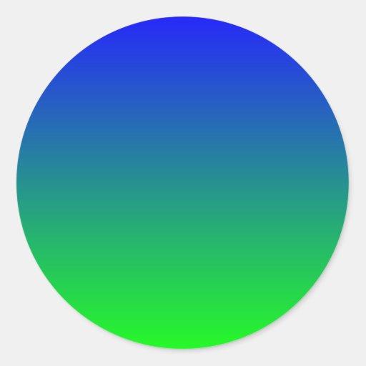 Pendiente azul de la cal etiqueta redonda