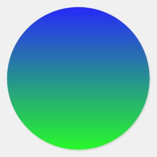 Pendiente azul de la cal pegatina redonda