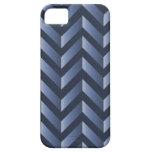 Pendiente azul gris Chevron iPhone 5 Case-Mate Coberturas