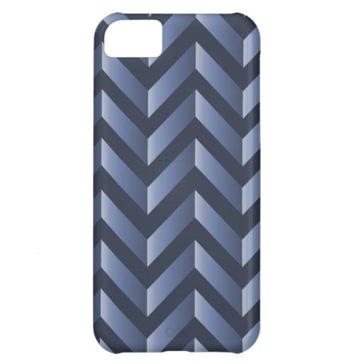 Pendiente azul gris Chevron Funda Para iPhone 5C
