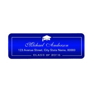 Pendiente azul llana elegante - graduado del etiquetas de remite
