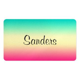 Pendiente brillante del trullo del inconformista tarjetas de visita