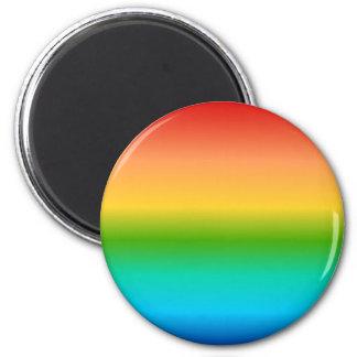 Pendiente colorida del color del arco iris imán redondo 5 cm