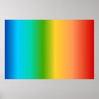 Pendiente colorida del color del arco iris posters