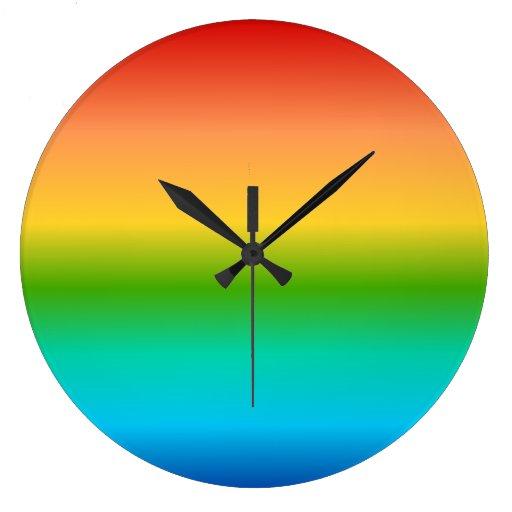 Pendiente colorida del color del arco iris relojes de pared