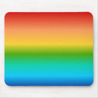 Pendiente colorida del color del arco iris alfombrillas de raton