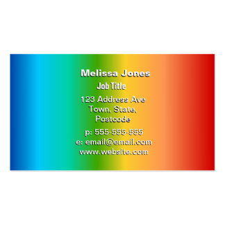 Pendiente colorida del color del arco iris tarjeta de visita